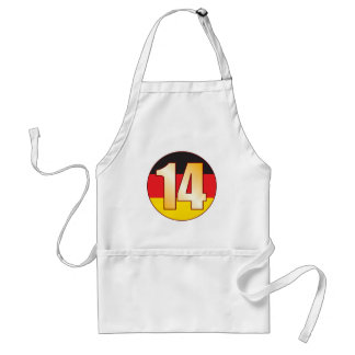 14 GERMANY Gold Adult Apron