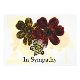 14 In Sympathy Custom Announcement