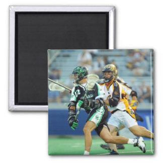 14 Jun 2001:  A.J. Haugen #12  Long Island 2 Inch Square Magnet