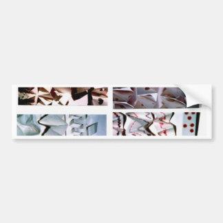14 manipulated paper origami- close up 001 bumper sticker