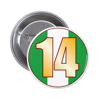 14 NIGERIA Gold Button