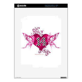 14 racing number butterflies decal for iPad 2