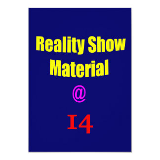 14 Reality Show Material Card