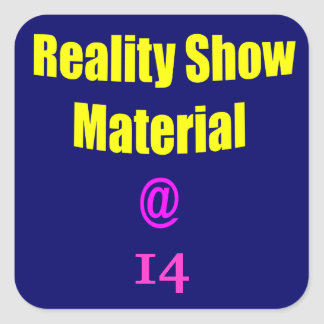 14 Reality Show Material Square Sticker