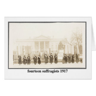 14 Suffragists, 1917 Card