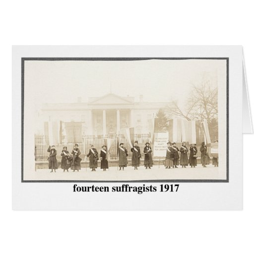 14 Suffragists, 1917 Greeting Card