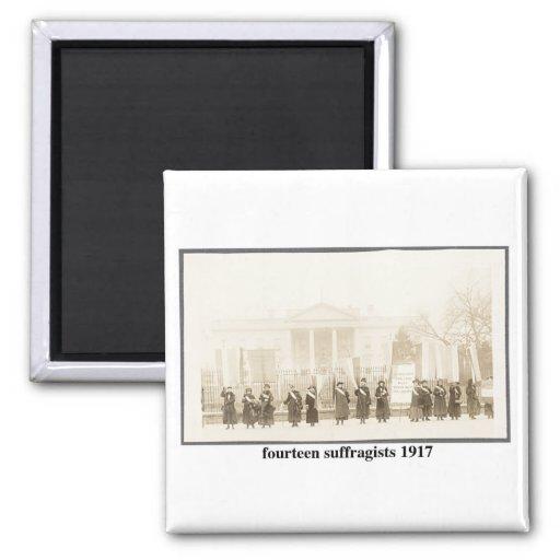 14 Suffragists, 1917 Imán De Frigorifico