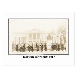 14 Suffragists, 1917 Postcard