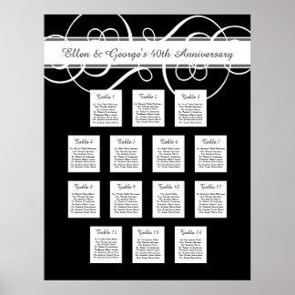 14 Table Wedding Anniversary Seating Chart