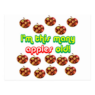 14 This Many Apples Old Postcard