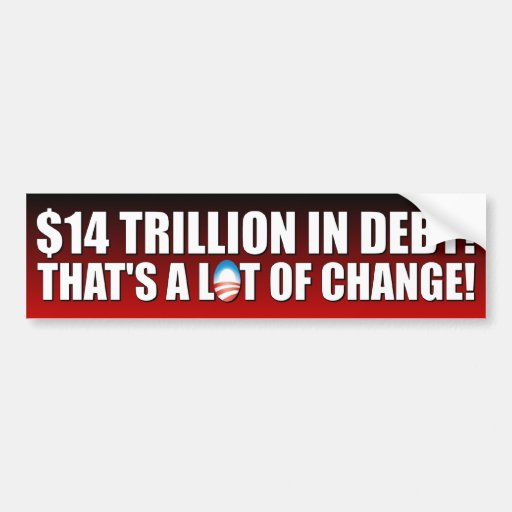 $14 trillón dólares en deuda pegatina de parachoque