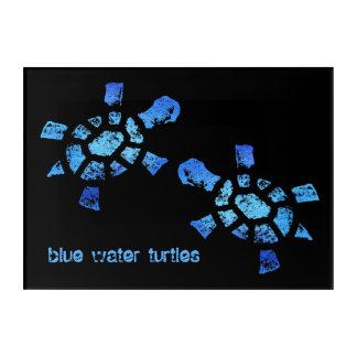 "14""x10"",20x16,20x30&24x36 Blue Water Turtles Acrylic Wall Art"