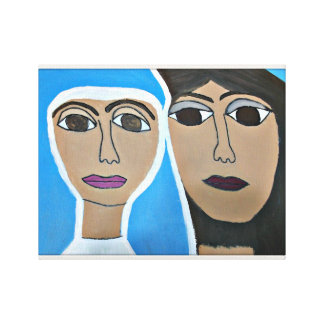 14 X 11 Cherokee Jesus and Karyn Wrapped Canvas