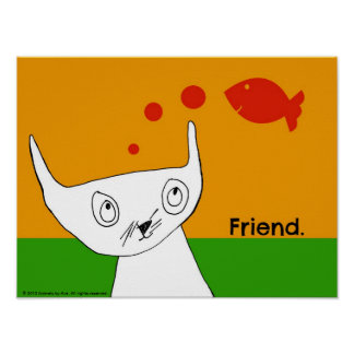 14 x 11 Poster - Fish are Friends