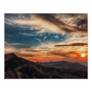 "14"" x 11"", Value Poster Paper (Matte) - Mountains"