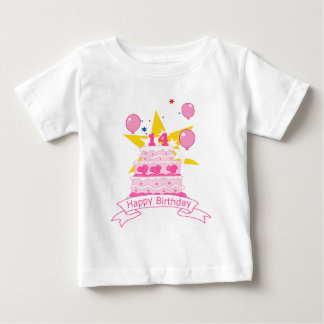 14 Year Old Birthday Cake Baby T-Shirt