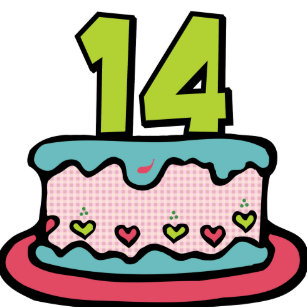 14 Year Old Birthday Cake Pinback Button