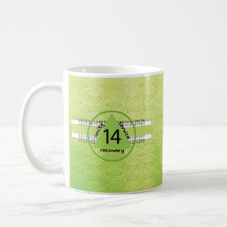 14 Year Peace Happiness 12 Step Recovery Anniv. Coffee Mug