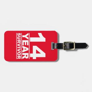 14 year survivor luggage tag