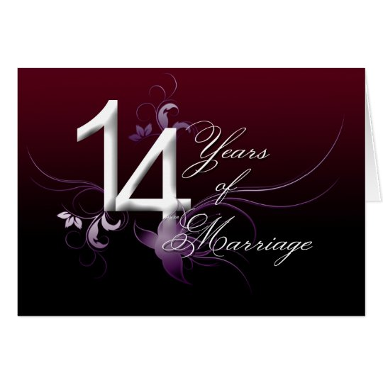 14th Year Wedding Anniversary Gift: 14 Years Of Marriage (wedding Anniversary) Card