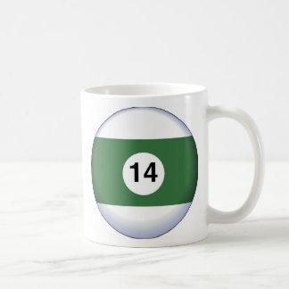 14BALL CLASSIC WHITE COFFEE MUG