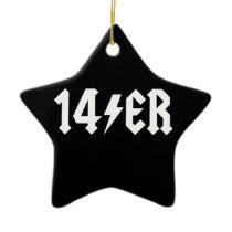 14er ceramic ornament