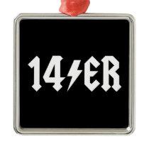14er metal ornament