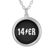 14er silver plated necklace