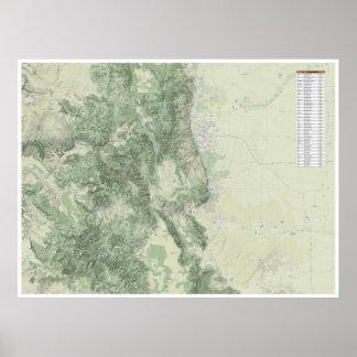 14ers de Colorado - leyenda de la elevación Póster