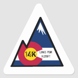 14k peak bagger (longs peak) triangle sticker