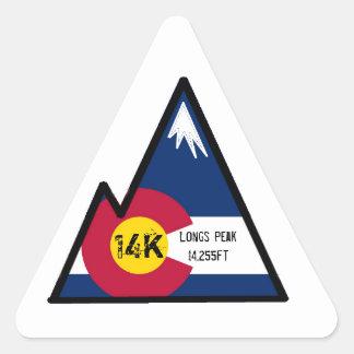 14k peak bagger (longs peak) triangle sticker