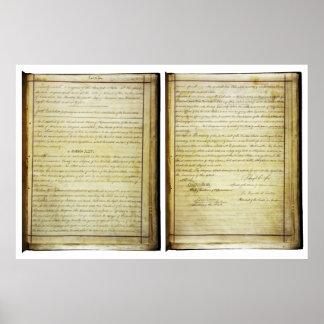 14ta constitución de los E.E.U.U. de la enmienda d Póster