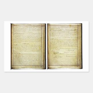 14ta constitución de los E.E.U.U. de la enmienda Pegatina Rectangular