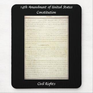14ta enmienda - enmienda de las derechas civiles tapetes de ratón