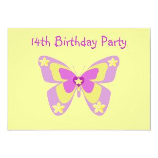14ta invitación de la fiesta de cumpleaños de la