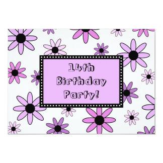 14tas tarjetas de la invitación de la fiesta de
