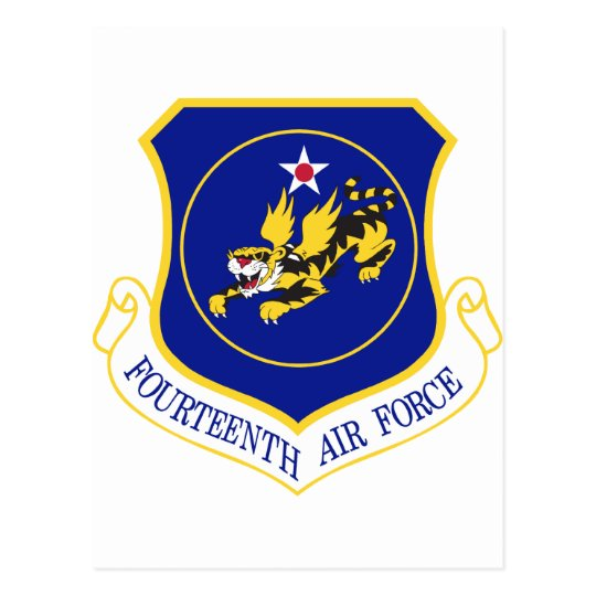 14th Air Force Patch Postcard