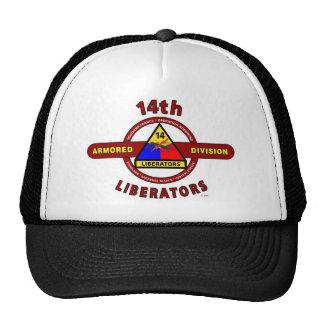 14TH ARMORED DIVISION LIBERATORS WW II TRUCKER HATS