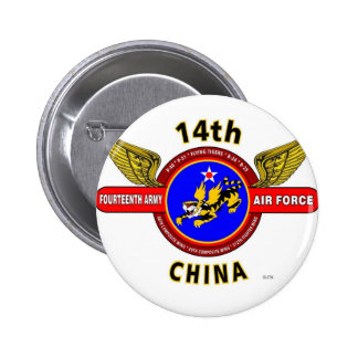 """14TH ARMY AIR FORCE """"ARMY AIR CORPS"""" WW II PINBACK BUTTONS"""