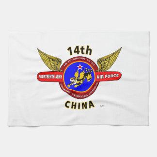 "14TH ARMY AIR FORCE ""ARMY AIR CORPS"" WW II TOWEL"