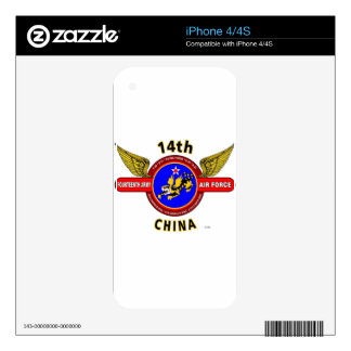 """14TH ARMY AIR FORCE """"ARMY AIR CORPS"""" WW II DECALS FOR iPhone 4S"""
