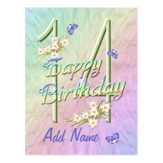 14th Birthday Butterfly Dance Postcard