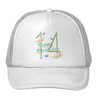 14th Birthday Butterfly Garden Hat