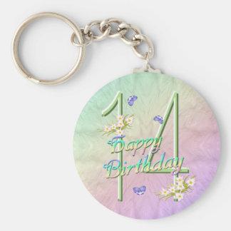 14th Birthday Butterfly Garden Keychain