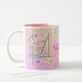 14th Birthday Butterfly Garden Mug