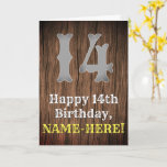 [ Thumbnail: 14th Birthday: Country Western Inspired Look, Name Card ]