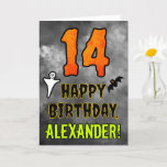 [ Thumbnail: 14th Birthday: Eerie Halloween Theme + Custom Name Card ]