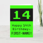 """[ Thumbnail: 14th Birthday: Nerdy / Geeky Style """"14"""" and Name Card ]"""