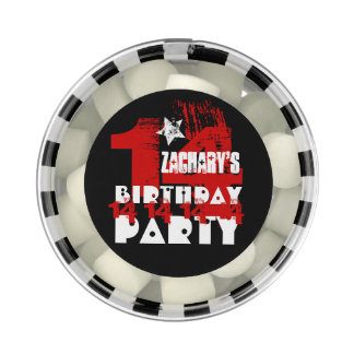 14th Birthday Party Grunge RED and BLACK A15 Chewing Gum Favors
