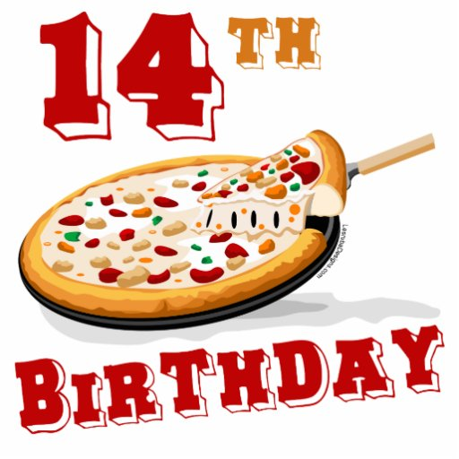 14th Birthday Pizza Party Cutout